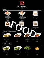 menu food small size