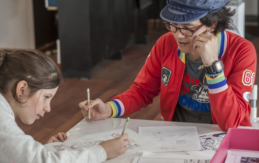 Anime and manga drawing class at RESOBOX in LIC