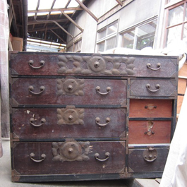 Here's a tansu that's in pretty rough shape. It's over 100 years old.