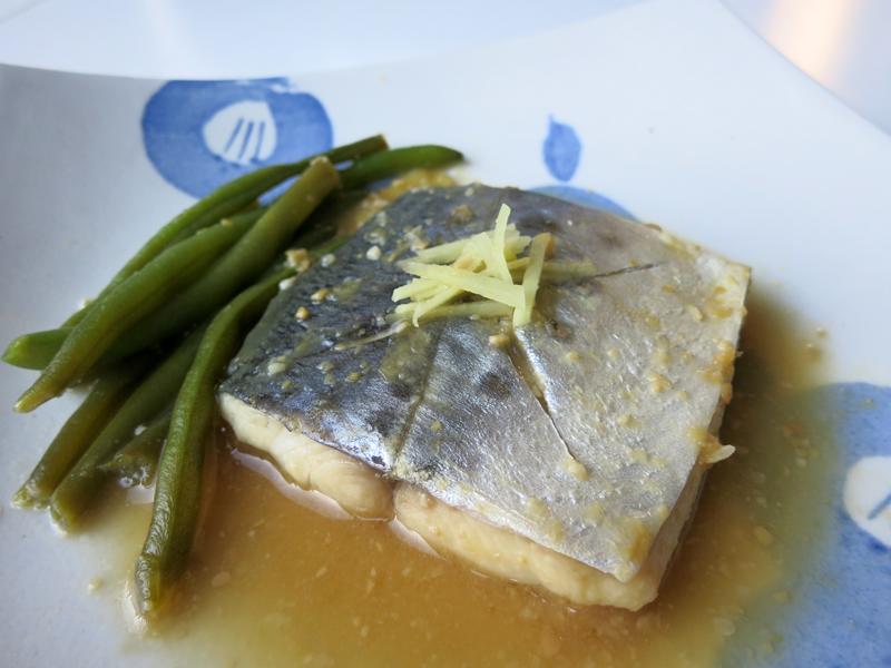 Saba miso - mackerel simmered in sweet miso
