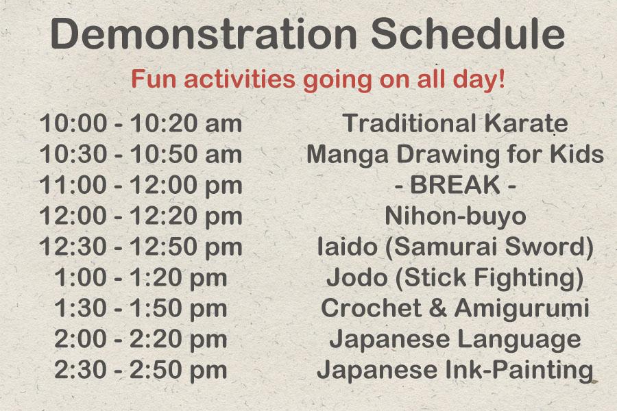demonstration schedule