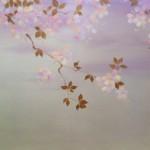spring light 48x36 Oil, Acrylic, Platinum Leaf on canvas