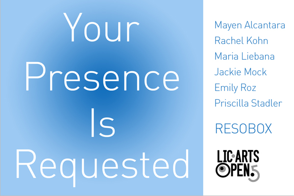 Your Presence Is Requested Exhibit at RESOBOX, May 6-25
