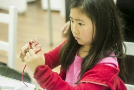 Crocheting allows children to not only be creative, but also improve their cognitive abilities.