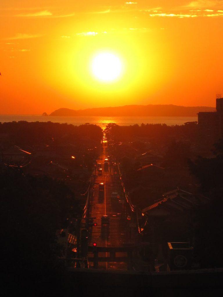 宮地嶽の夕陽