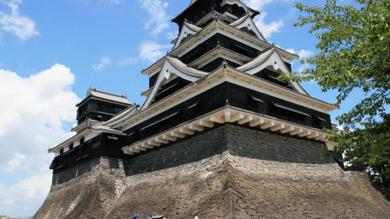 A Japanese castle.